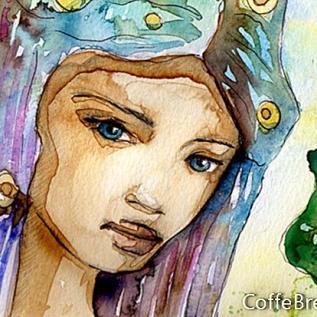Etnická kůže a fantazie barev