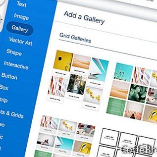 Wix webové stránky od nuly - mřížky galerie