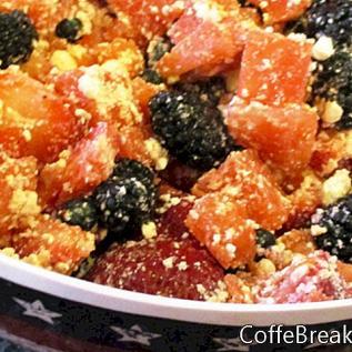 Patriotisches Wassermelonen-Beeren-Schüssel-Rezept