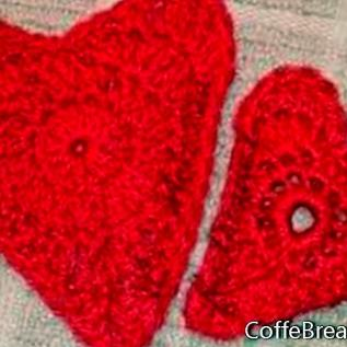 Patrón de apliques de corazones de ganchillo
