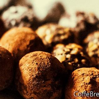 Receta de trufas de chocolate crudo