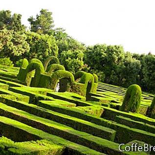 Anglické zahradní pohlednice a skládačky
