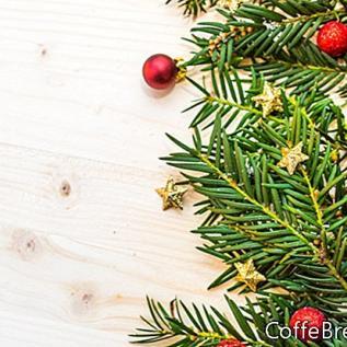 自然なクリスマスの装飾