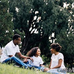 Schwarze Kinder und Pflege