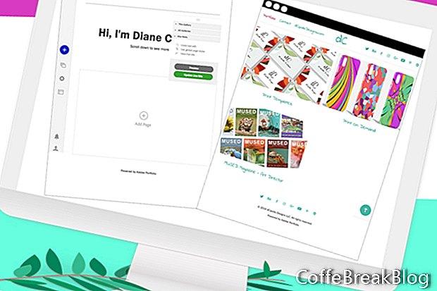 Adobe Portfolio - Opcije stranice