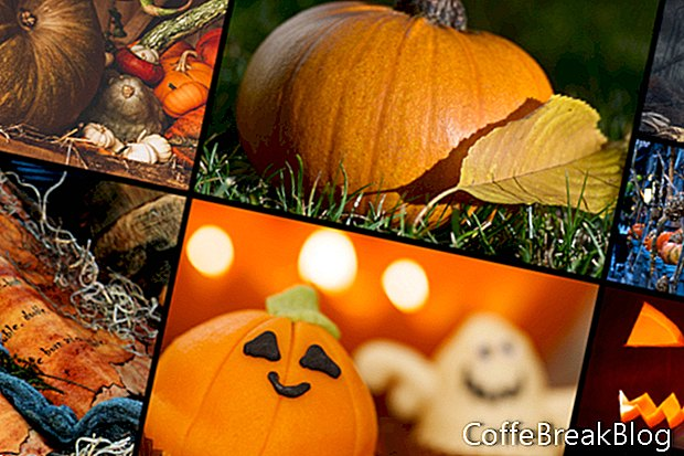 Benutzerdefinierter Herbst Halloween Bildschirmschoner für iMac