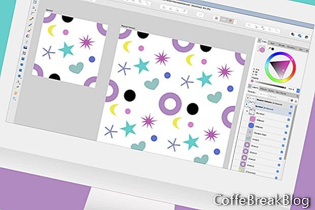 Zopakujte šablónu vzoru v nástroji Affinity Designer