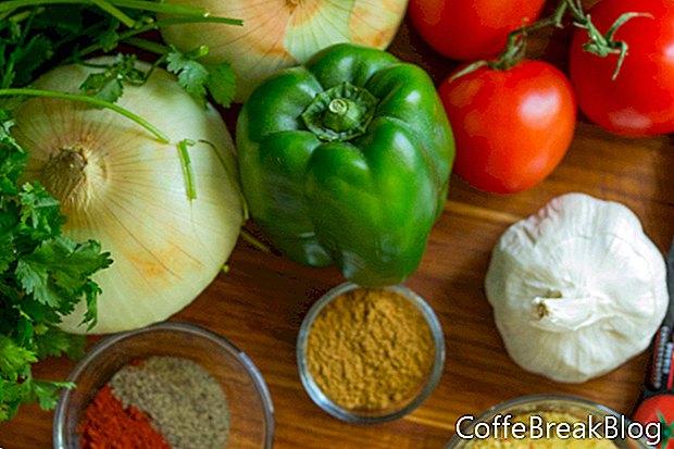 टमाटर, नीबू और अजमोद पकाने की विधि के साथ चिंराट