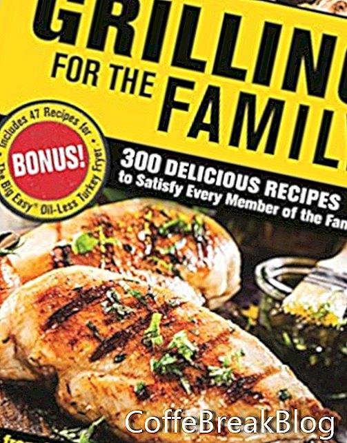 تشار برويل الشواية لاستعراض كتاب الطبخ الأسرة