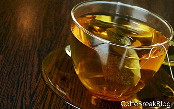 Тема за изкуство с реколта на чай