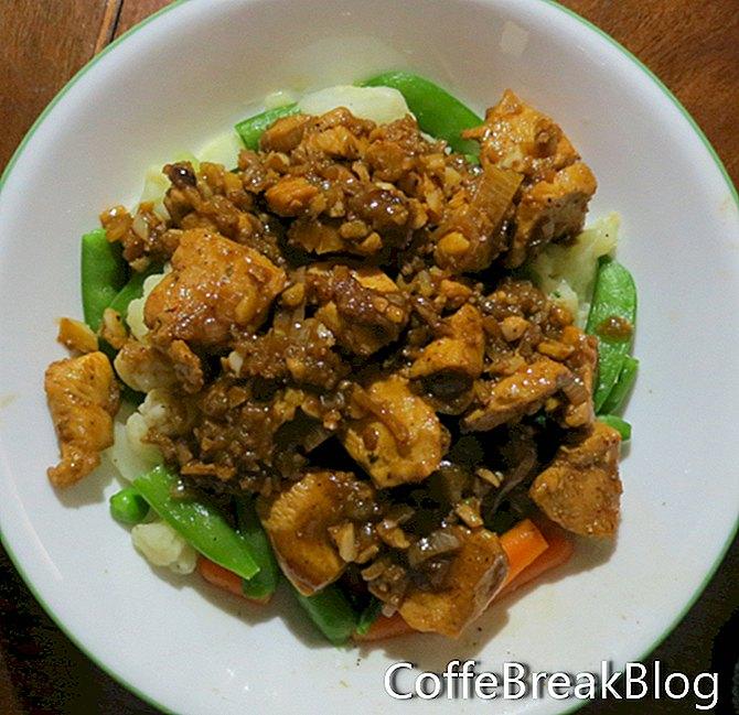Pollo con scalogno all'aglio e ricetta dello zafferano