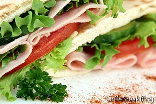 Osnovni popis sastojaka sendviča