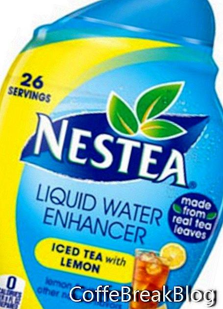 Tè freddo Nestea con gocce di limone