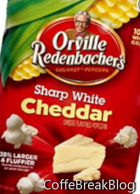 Orville'i terav valge Cheddari popkorn