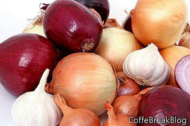 Tabla de carbohidratos de tipos de cebolla