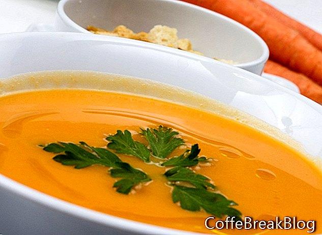 Veganski začinjeni recept za juho iz korenja