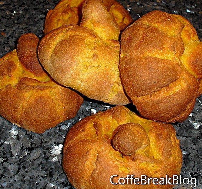 Recept na misky s dýňovým chlebem