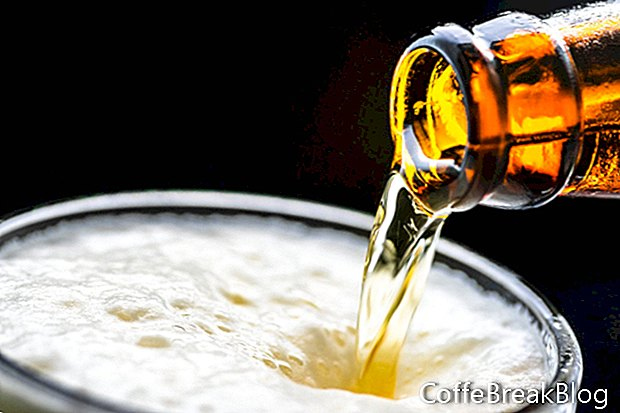 Velké zdobení jídla s pivem