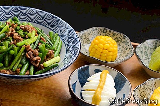 الصينية على البخار لحم الخنزير المشوي وصفة الكعك