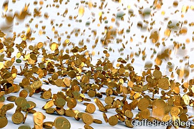 Sechs Gold- und Silbergrößen