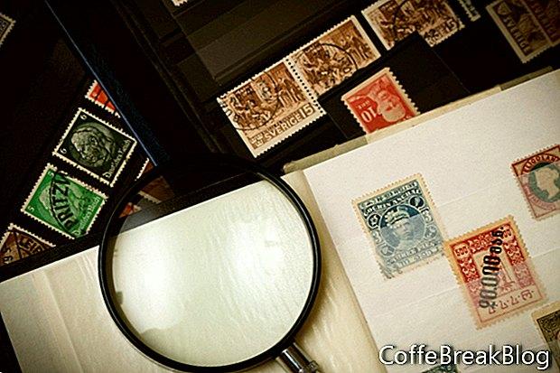 Dinge, die als Briefmarken posieren