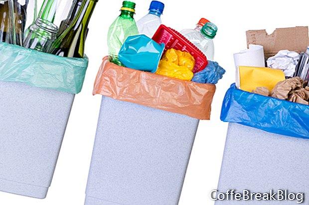 Limpando seus suprimentos de limpeza