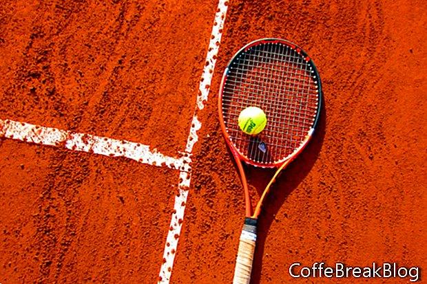 Entraînement de tennis d'hiver