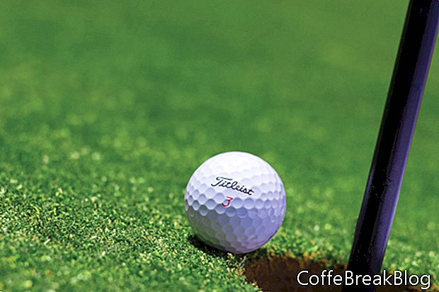 Grabar sus puntajes de golf y jugar