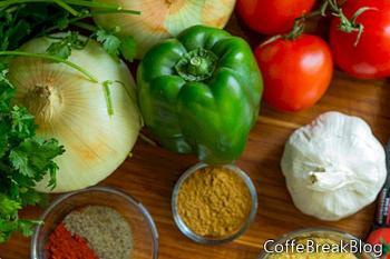 Pollo con Patate e Peperoni Recept